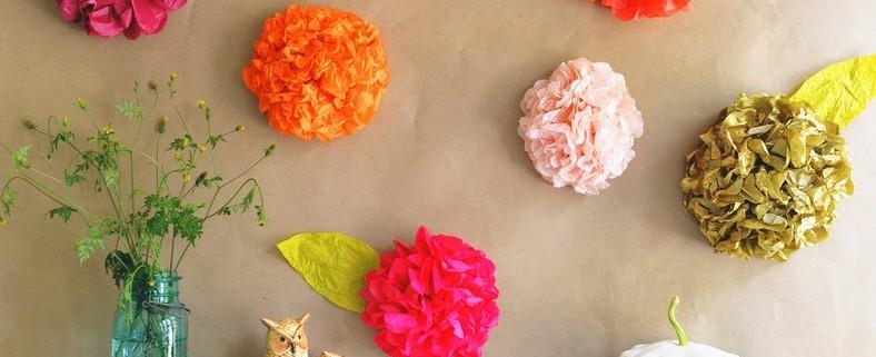 Бумажные цветы-своими руками.